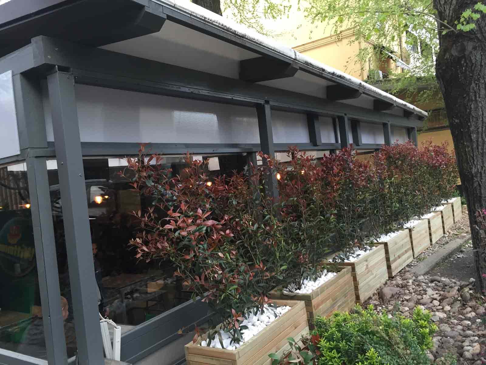 Veranda in legno autoportante