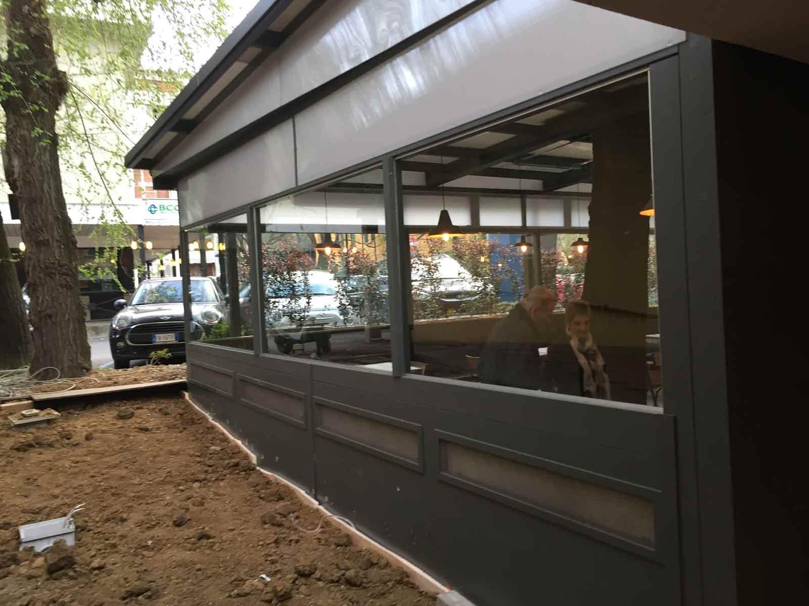 Veranda in legno pub Daimo