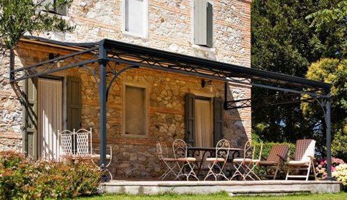 Pergolati in legno ferro e alluminio naturalwood bologna - Struttura in ferro per casa ...