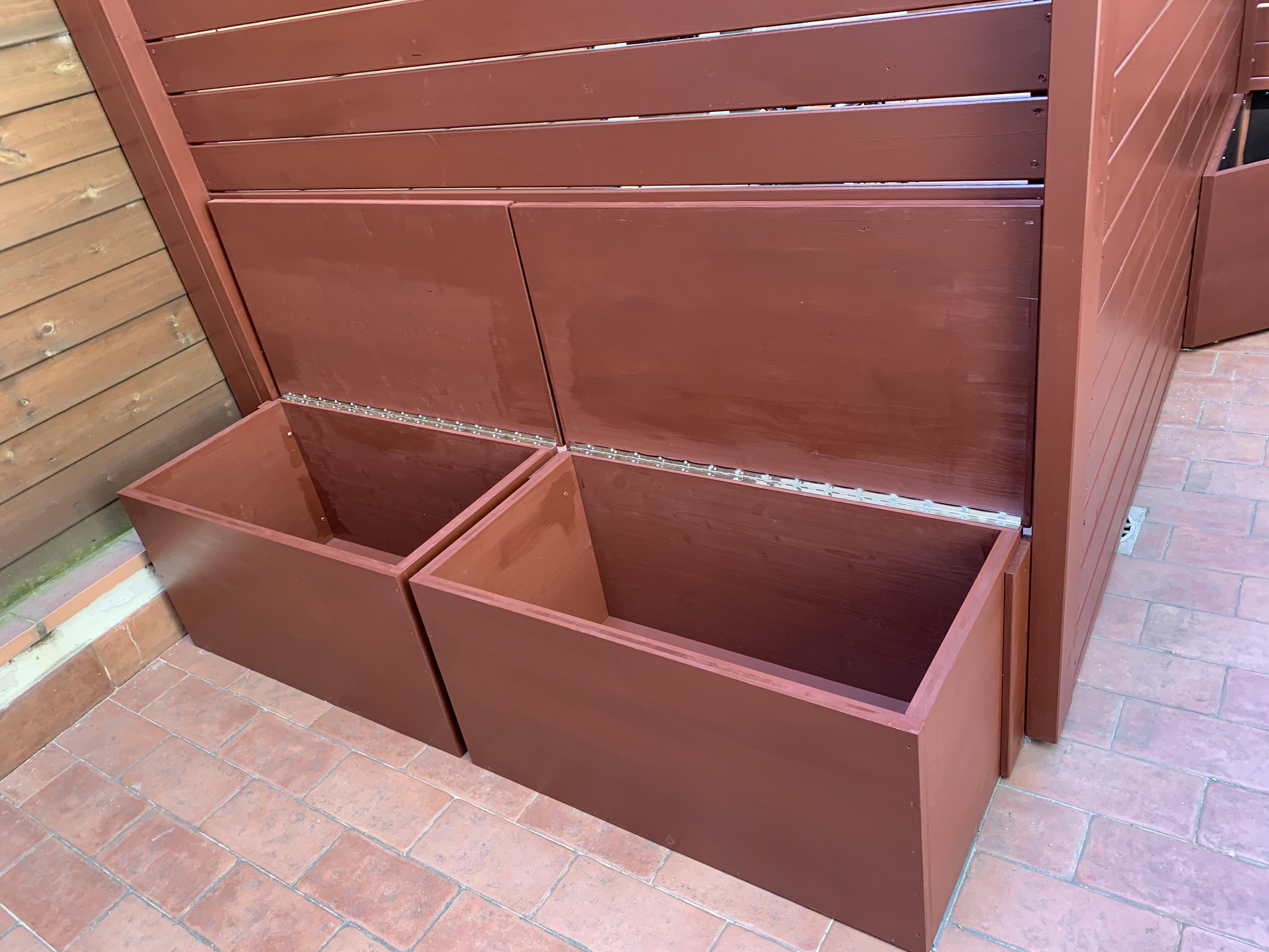Cassapanche su misura e salva/vista in legno smaltato